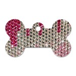 Mauve Gradient Rhinestones  Twin-sided Dog Tag (Bone) Front