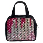 Mauve Gradient Rhinestones  Twin-sided Satched Handbag Front