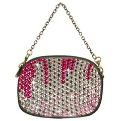 Mauve Gradient Rhinestones  Twin Sided Evening Purse