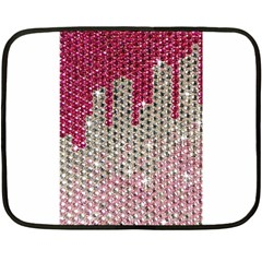 Mauve Gradient Rhinestones  Twin-sided Mini Fleece Blanket