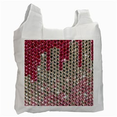 Mauve Gradient Rhinestones  Single Sided Reusable Shopping Bag