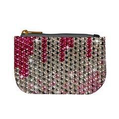 Mauve Gradient Rhinestones  Coin Change Purse