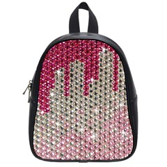 Mauve Gradient Rhinestones  Small School Backpack