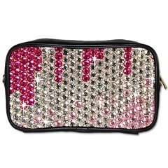 Mauve Gradient Rhinestones  Twin-sided Personal Care Bag