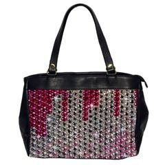 Mauve Gradient Rhinestones  Single-sided Oversized Handbag