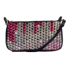 Mauve Gradient Rhinestones  Evening Bag