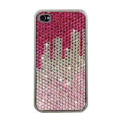 Mauve Gradient Rhinestones  Apple iPhone 4 Case (Clear)
