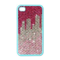 Mauve Gradient Rhinestones  Apple iPhone 4 Case (Color)
