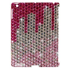 Mauve Gradient Rhinestones  Apple iPad 3/4 Hardshell Case (Compatible with Smart Cover)