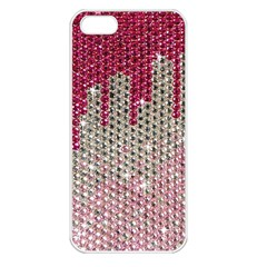 Mauve Gradient Rhinestones  Apple iPhone 5 Seamless Case (White)
