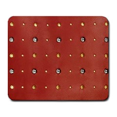 Studded Faux Leather Red Large Mouse Pad (Rectangle)