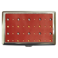 Studded Faux Leather Red Cigarette Box