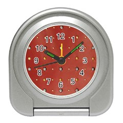 Studded Faux Leather Red Desk Alarm Clock