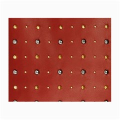 Studded Faux Leather Red Glasses Cleaning Cloth