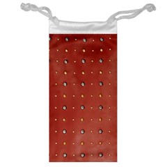 Studded Faux Leather Red Glasses Pouch