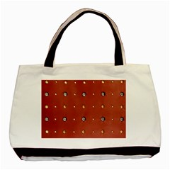 Studded Faux Leather Red Black Tote Bag
