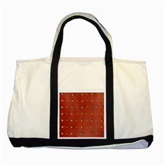 Studded Faux Leather Red Two Toned Tote Bag