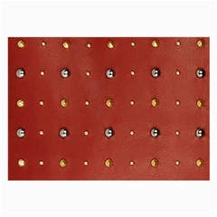 Studded Faux Leather Red Single Sided Handkerchief