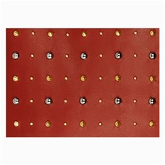 Studded Faux Leather Red Twin-sided Handkerchief