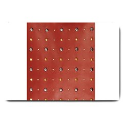 Studded Faux Leather Red Large Door Mat