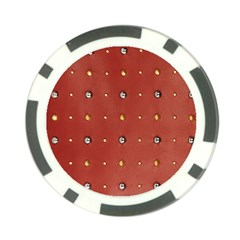 Studded Faux Leather Red Poker Chip