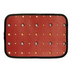 Studded Faux Leather Red 10  Netbook Case