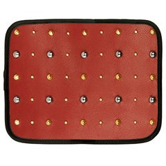 Studded Faux Leather Red 12  Netbook Case