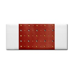 Studded Faux Leather Red Hand Towel