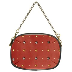 Studded Faux Leather Red Twin Sided Evening Purse
