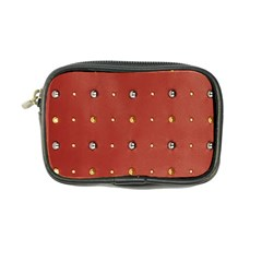 Studded Faux Leather Red Ultra Compact Camera Case
