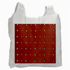 Studded Faux Leather Red Twin-sided Reusable Shopping Bag