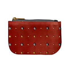 Studded Faux Leather Red Coin Change Purse