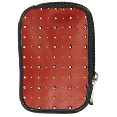 Studded Faux Leather Red Digital Camera Case