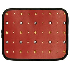 Studded Faux Leather Red 15  Netbook Case