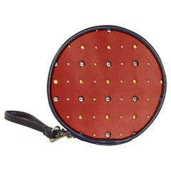 Studded Faux Leather Red CD Wallet