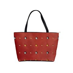 Studded Faux Leather Red Large Shoulder Bag
