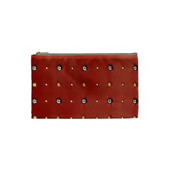 Studded Faux Leather Red Small Makeup Purse