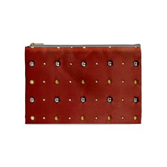 Studded Faux Leather Red Medium Makeup Purse