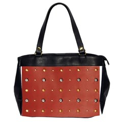Studded Faux Leather Red Twin-sided Oversized Handbag