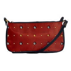 Studded Faux Leather Red Evening Bag
