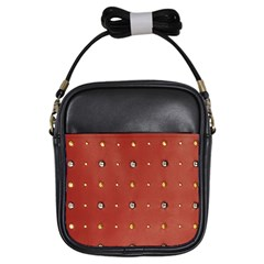 Studded Faux Leather Red Kids  Sling Bag