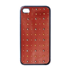 Studded Faux Leather Red Black Apple iPhone 4 Case