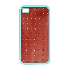 Studded Faux Leather Red Apple iPhone 4 Case (Color)