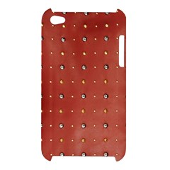 Studded Faux Leather Red Apple iPod Touch 4G Hardshell Case