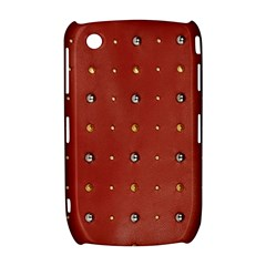 Studded Faux Leather Red BlackBerry Curve 8520 9300 Hardshell Case