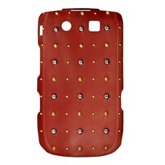 Studded Faux Leather Red BlackBerry Torch 9800 9810 Hardshell Case
