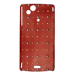 Studded Faux Leather Red Sony Ericsson Xperia Arc Hardshell Case
