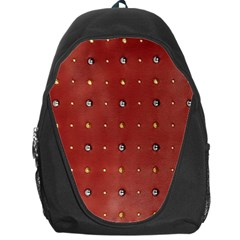 Studded Faux Leather Red Backpack Bag