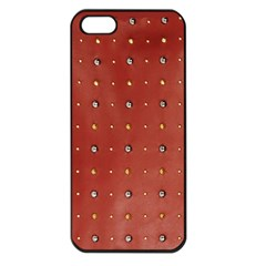 Studded Faux Leather Red Apple Iphone 5 Seamless Case (black)