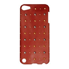 Studded Faux Leather Red Apple iPod Touch 5 Hardshell Case